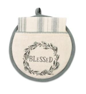 Blessed Hot Pad & Tea Towel Set ETA: 7/27