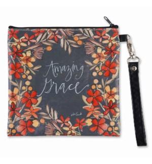 Amazing Grace Square Wristlet Zippered Bag ETA 7/2