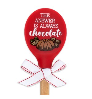 The Answer Is Always Chocolate wood Spoon 7/12