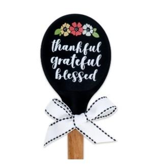 Thankful Grateful Blessed wood Spoon ETA: 7/12