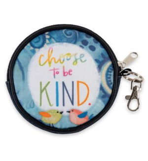 Choose To Be Kind Round Zippered Coin Purse