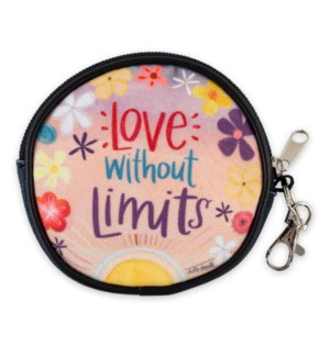 Love Without Limits Round Zippered Purse