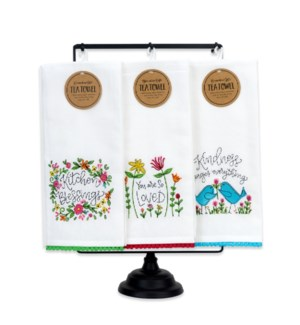 Botanical Embroidered Tea Towels Collection