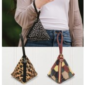 Bella Caroline Triangle Velour Bags
