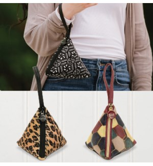 Bella Caroline Triangle Velour Bags