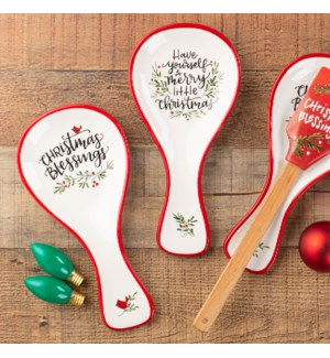 Happy Christmas Spoon Rests Collection