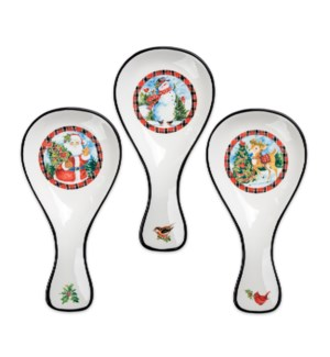 Christmas Plaid Ceramic Spoon Rest Collection
