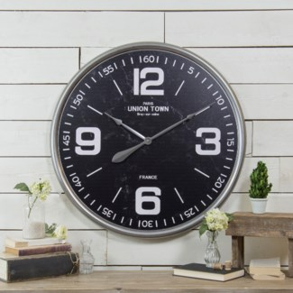 MTL. WALL CLOCK (3/cs)