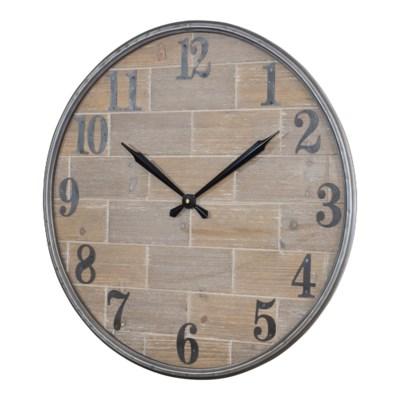 WD./MTL. WALL CLOCK (4/cs)