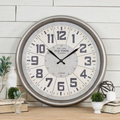 MTL. WALL CLOCK (1/cs)