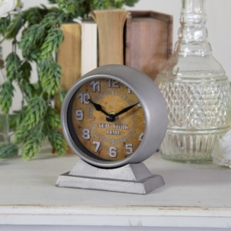 "MTL. TABLE CLOCK ""NEW YORK"" (36/cs)"
