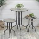 MTL. BISTRO TABLE W/ STOOLS