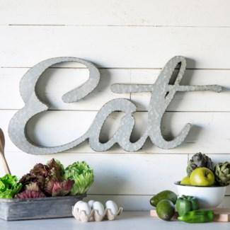 """MTL. """"EAT"""" SIGN (12/cs)"""