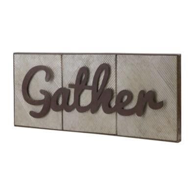 "MTL. WORD ART ""GATHER"" (4/cs)"