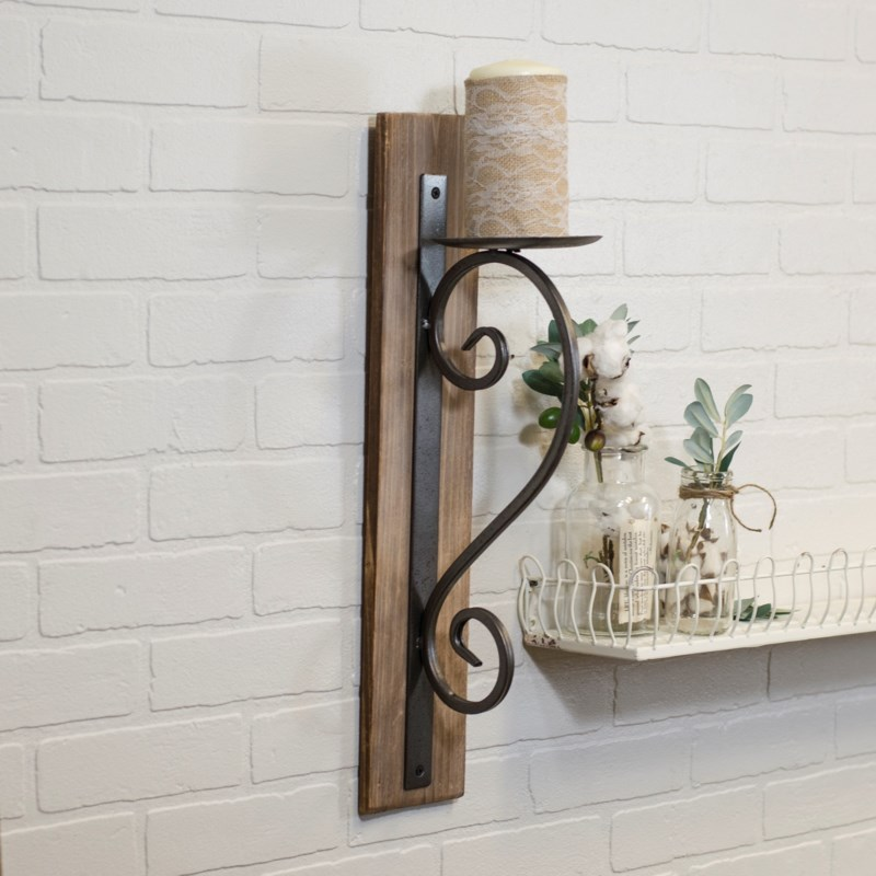 MTL./WD. WALL  SCONCE