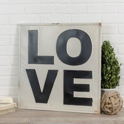 "MTL. WORD ART ""LOVE"" (12/cs)"
