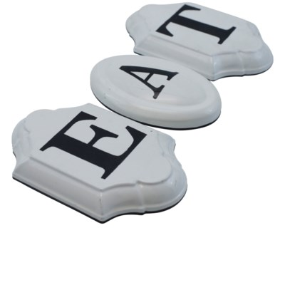 "MTL. ""EAT"" SIGN (8 sets/cs)"