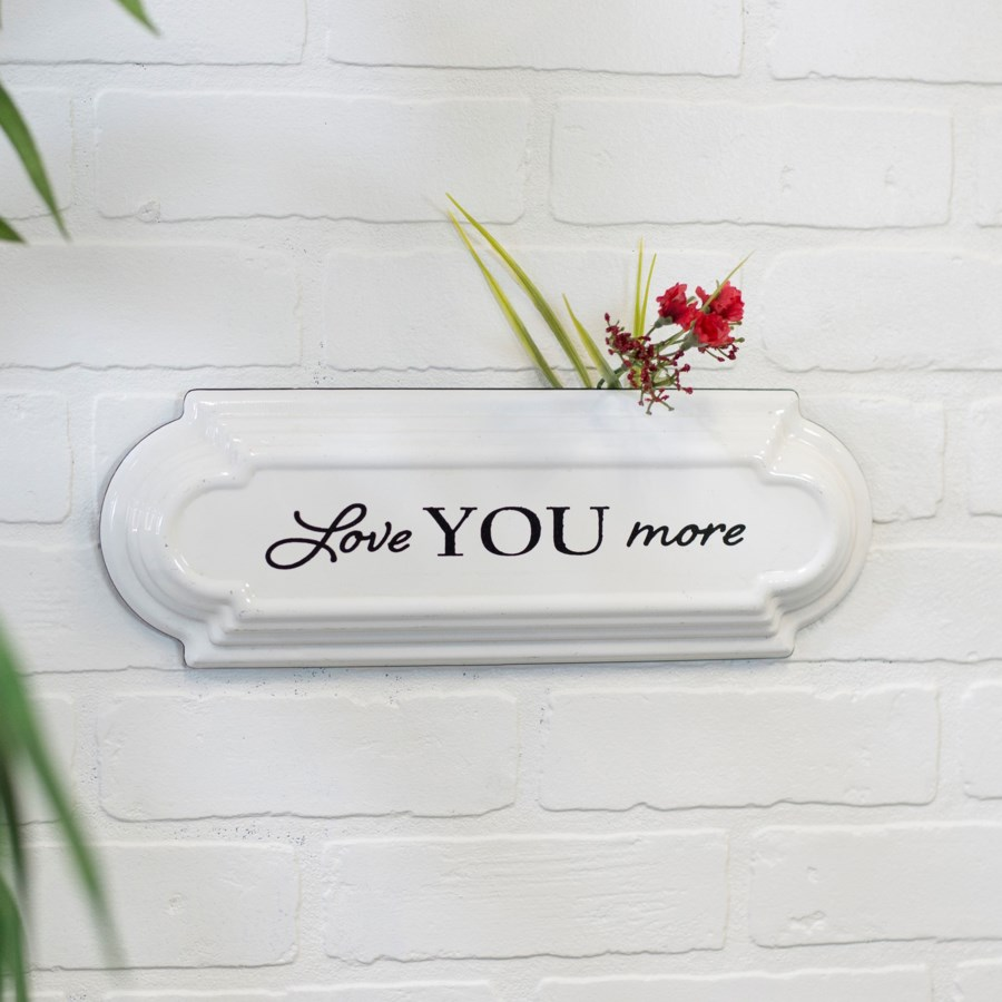 "MTL. ""LOVE YOU MORE"" SIGN (24/cs)"