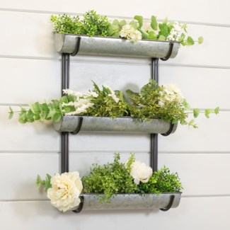 MTL. TRIPLE WALL PLANTER (1/cs)