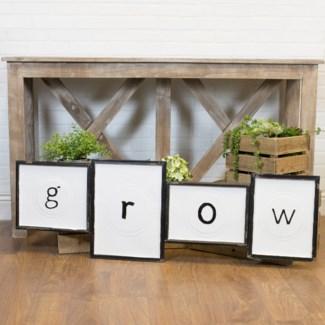 """MTL. SIGN """"GROW"""" (4/cs)"""