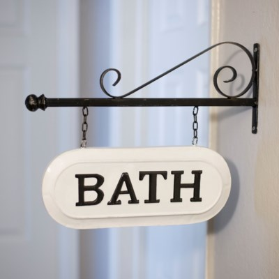 "MTL. SIGN ""BATH"" (8/cs)"