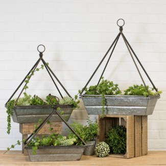 MTL. HANGING PLANTERS SET/3 (1 set/cs)