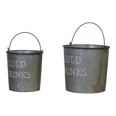 MTL. DRINK BUCKETS SET/2 (1 set/cs)