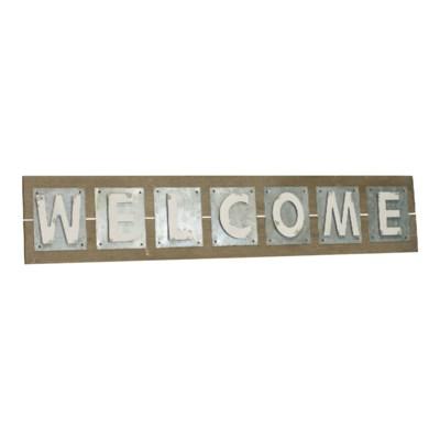 """WD./MTL. WORD ART """"WELCOME"""" (1/cs)"""