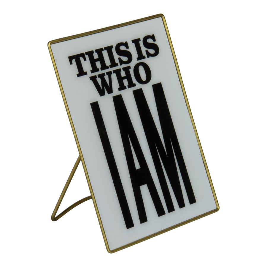 "|MTL. SIGN ""I AM"" (24/cs)
