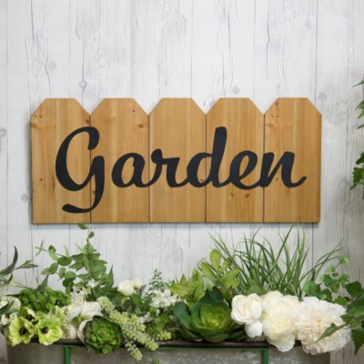 "WD. SIGN ""GARDEN"" (4/cs) (Available Jan 2019)"