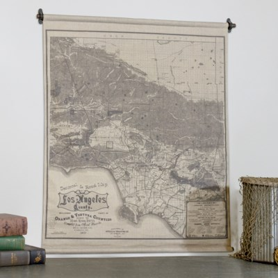 "|HANGING MAP ""LOS ANGELES"" (12/cs)