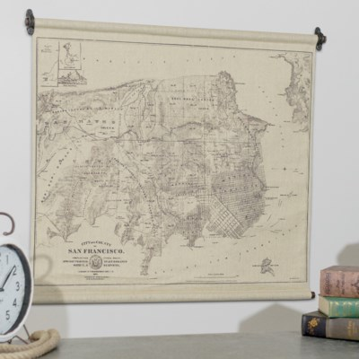 "|HANGING MAP ""SAN FRANCISCO"" (12/cs)