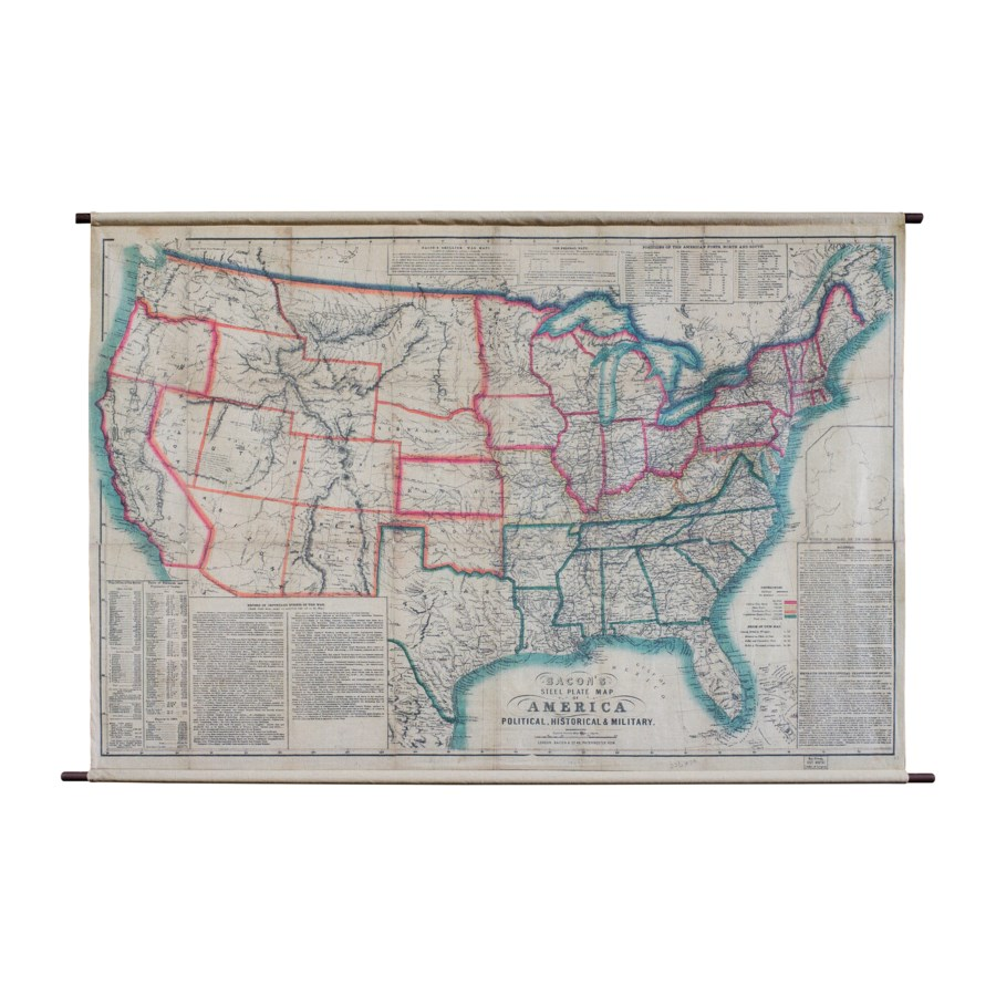 "HANGING MAP ""AMERICA"" (8/cs)"