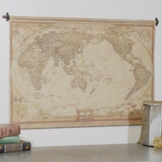 "HANGING MAP ""THE WORLD"" 48"" (6/cs)"