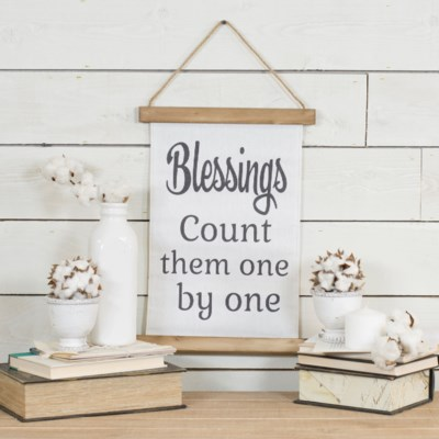 "HANGING BANNER ""BLESSINGS"" (24/cs)"