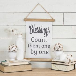 """HANGING BANNER """"BLESSINGS"""" (24/cs)"""