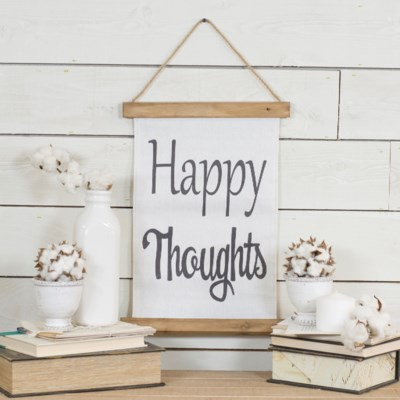 """HANGING BANNER """"HAPPY THOUGHTS"""" (24/cs)"""
