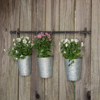 MTL. HANGING PLANTER BUCKETS (4/cs)