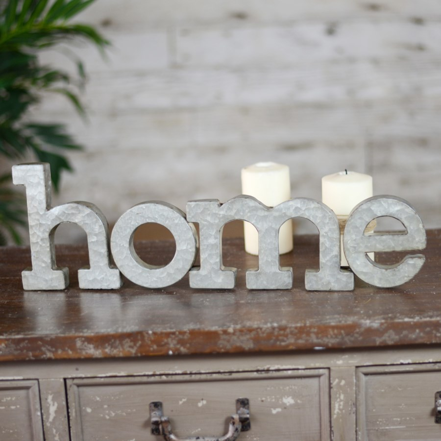 "MTL. WALL WORDS ""HOME"" (8/cs)"