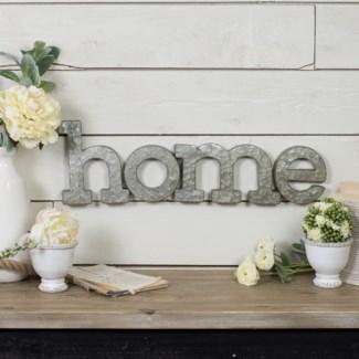 "MTL. WALL WORDS ""HOME"" (8/cs)"