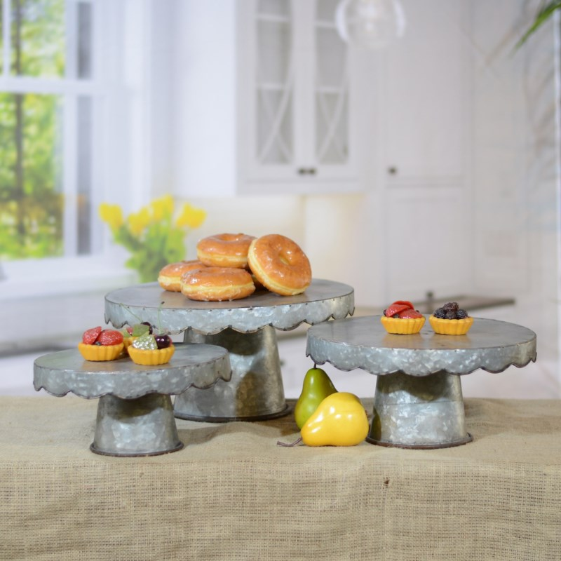|MTL. CAKE STAND S/3|