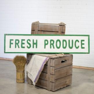 """MTL. WORD ART """"FRESH PRODUCE"""" (2/cs)"""