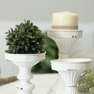 MTL. CANDLE HOLDER SET/3 (4sets/cs)