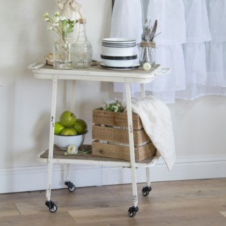 MTL. ROLLING BAR CART (1/cs)