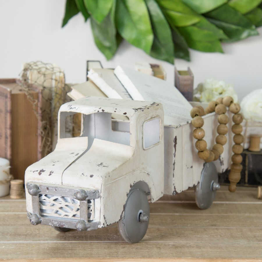MTL. DECORATIVE TRUCK WHITE (2/cs)