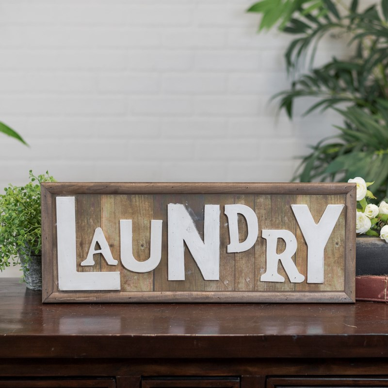 "WD. WORD ART ""LAUNDRY"""