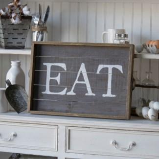 "WD. WORD ART ""EAT"" (6/cs)"