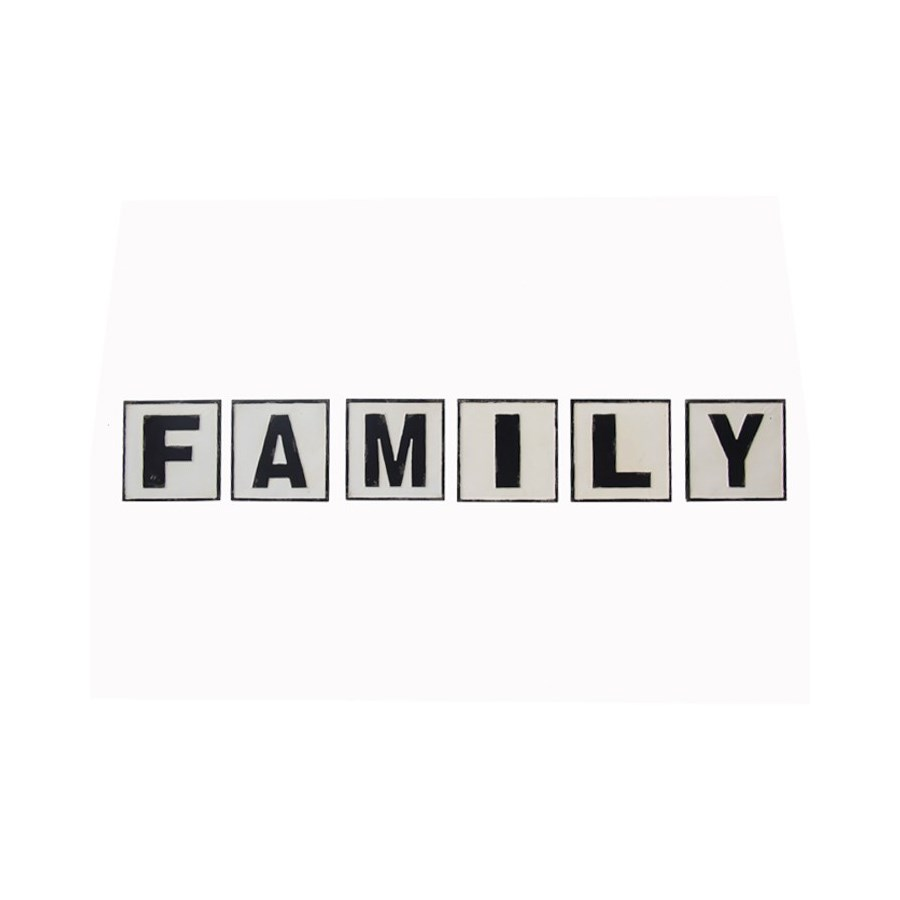 "MTL. WORDS ""FAMILY"" (4/cs)"