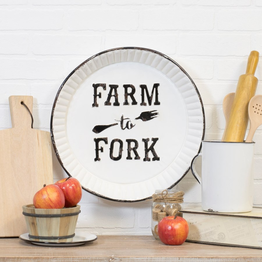 "MTL. SIGN ""FARM TO FORK"" (6/cs)"