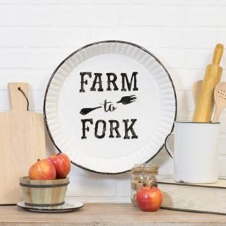 "MTL. SIGN ""FARM TO FORK"" (6/cs)"